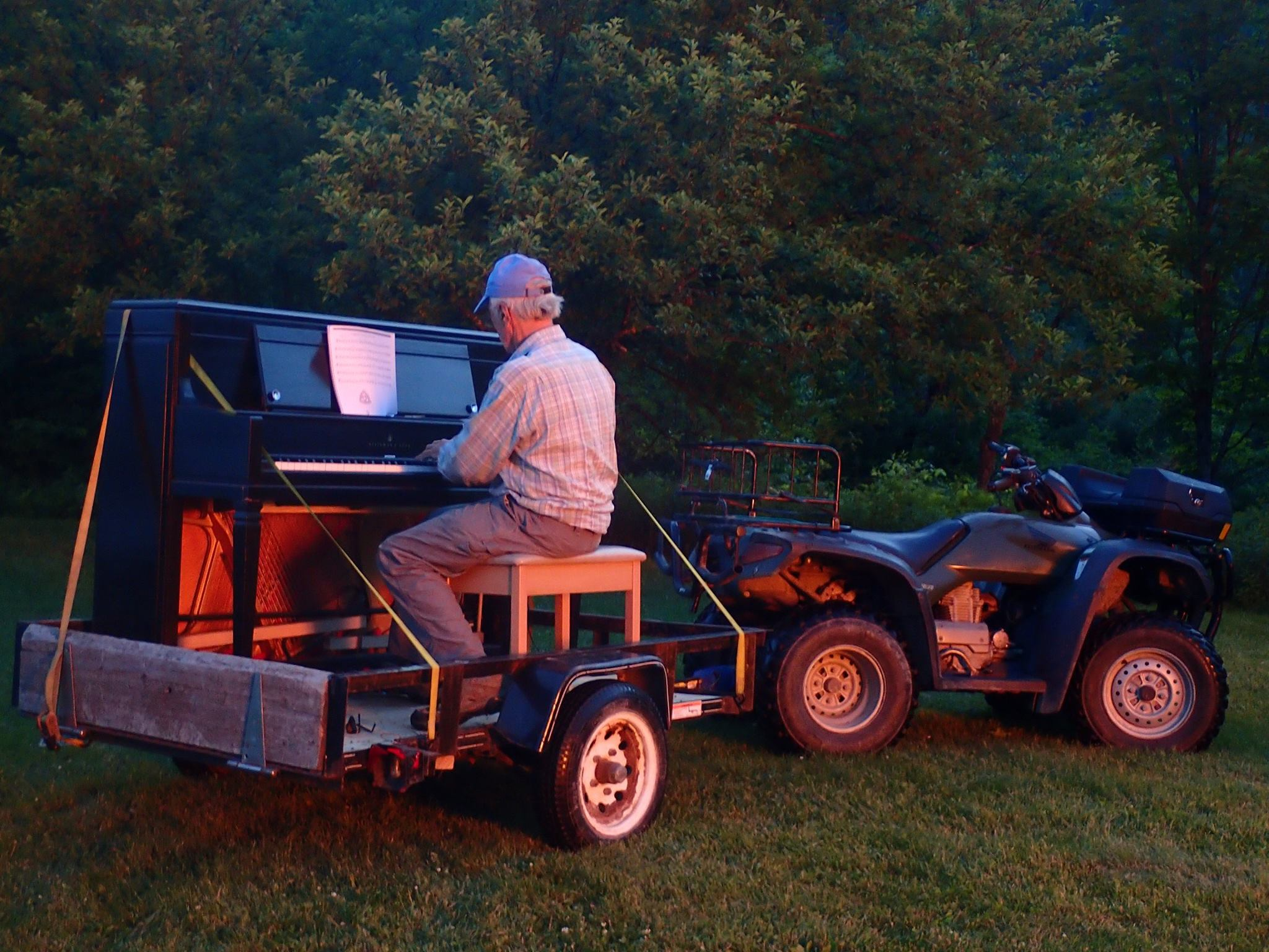 John and mobile piano still glowing